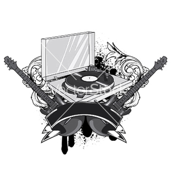Free music emblem vector - Free vector #252661