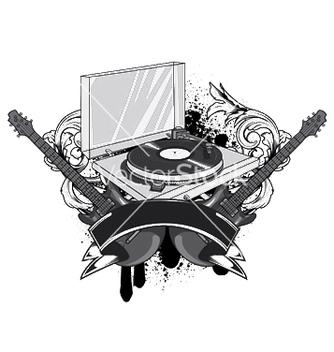 Free music emblem vector - Kostenloses vector #252661