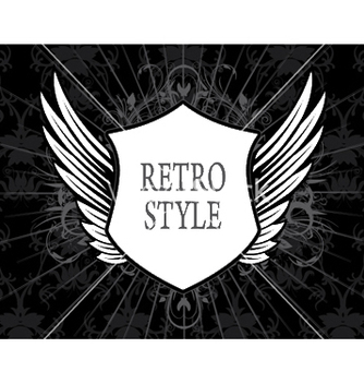 Free retro label with shield vector - Kostenloses vector #252781