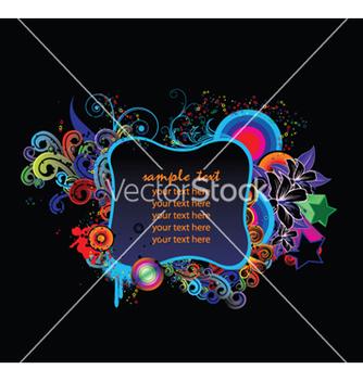 Free splash floral frame vector - бесплатный vector #252871