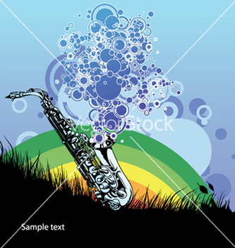 Free saxophone with circles vector - Free vector #252971