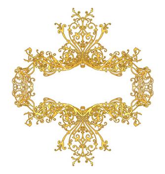 Free elegant floral frame vector - Free vector #253001