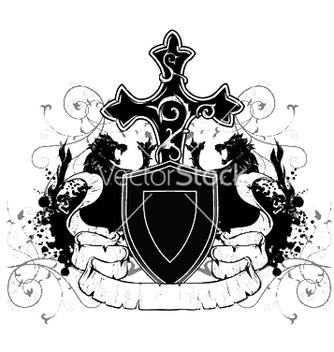 Free vintage emblem with shield vector - Kostenloses vector #253051