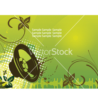 Free concert poster with speaker vector - Free vector #253331