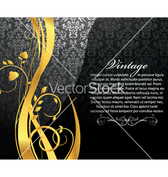 Free vintage gold floral background vector - Free vector #253421