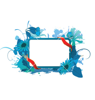 Free watercolor floral frame vector - Free vector #253561