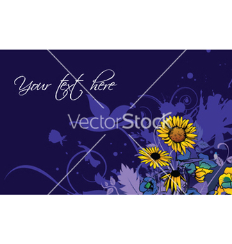 Free splash floral background vector - vector gratuit #253611