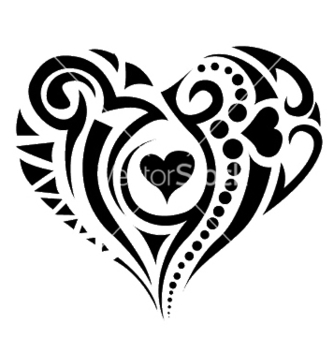 Free tatoo heart vector - Free vector #253651