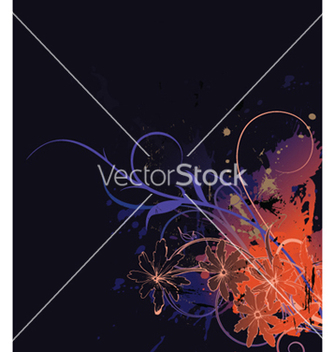 Free splash floral background vector - Free vector #254011