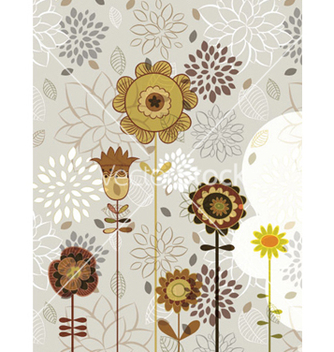 Free abstract floral background vector - Free vector #254111