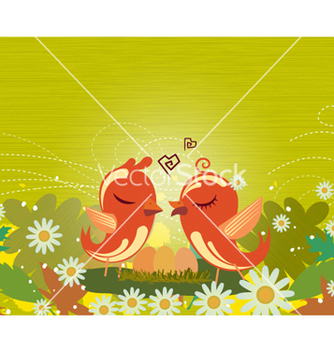 Free love birds vector - vector gratuit #254161