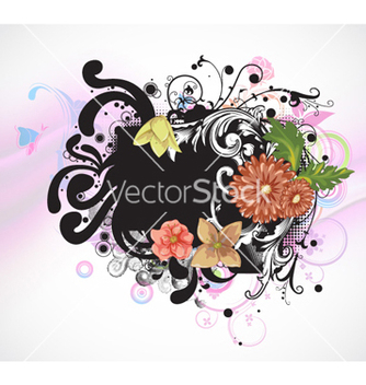 Free colorful floral background vector - Free vector #254231