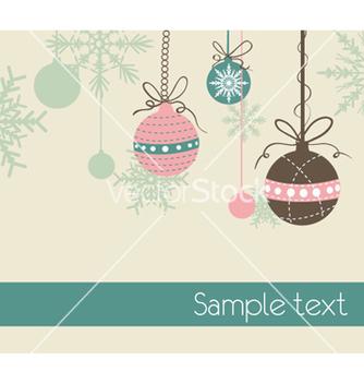 Free christmas greeting card vector - Kostenloses vector #254281