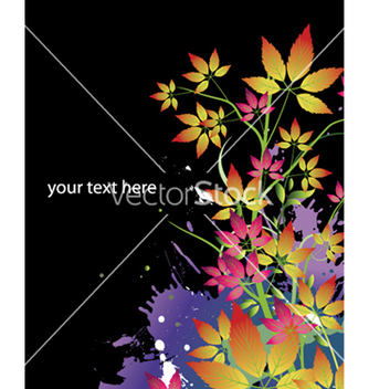Free watercolor floral background vector - Free vector #254411