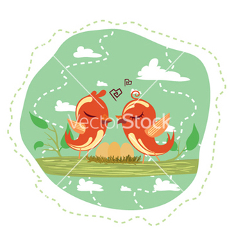 Free love birds vector - vector gratuit #254471