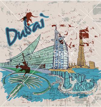 Free dubai doodles vector - Free vector #254751