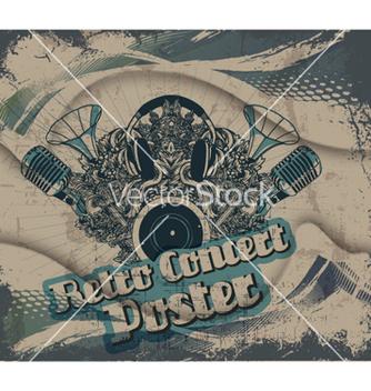 Free retro concert poster vector - vector #254811 gratis