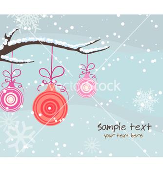 Free christmas greeting card vector - Kostenloses vector #254861
