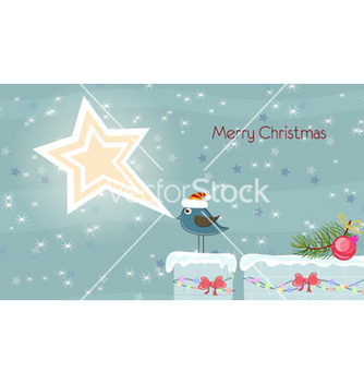 Free christmas card vector - бесплатный vector #254911
