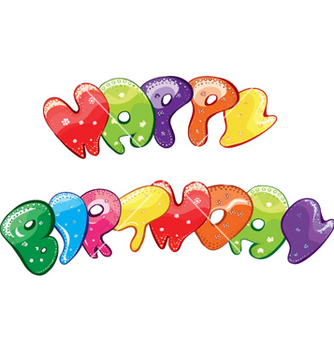 Free happy birthday vector - Kostenloses vector #254921