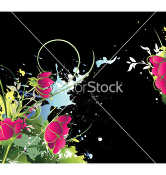 Free watercolor floral background vector - Free vector #255041