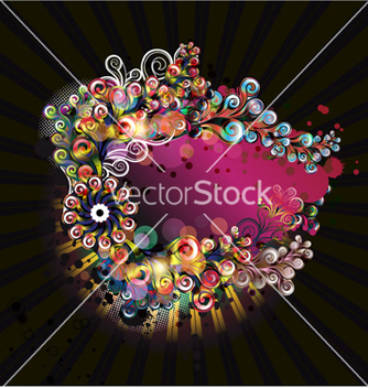 Free colorful abstract frame vector - Free vector #255191