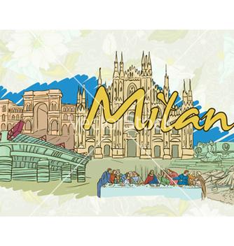 Free milan doodles vector - бесплатный vector #255251