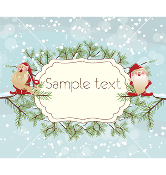 Free christmas greeting card vector - Kostenloses vector #255281