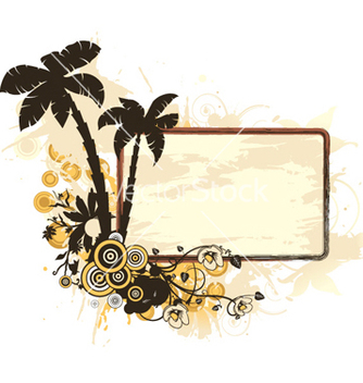 Free vintage summer frame vector - Free vector #255481