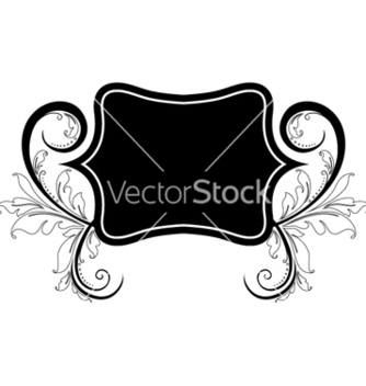 Free vintage label with floral vector - Free vector #255521