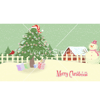 Free christmas greeting card vector - Free vector #255871