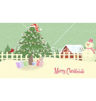 Free christmas greeting card vector - vector #255871 gratis