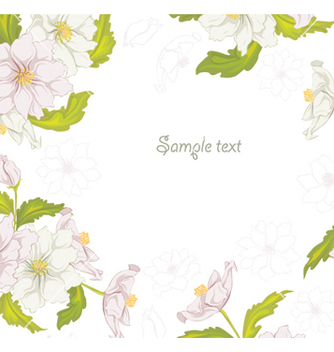 Free spring colorful floral background vector - бесплатный vector #255891