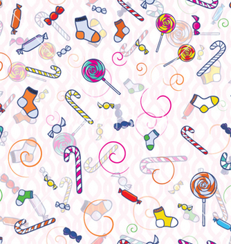Free doodles seamless background vector - vector #256461 gratis