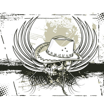 Free skull with grunge background vector - Kostenloses vector #256551