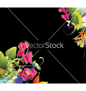 Free watercolor floral background vector - Free vector #256861