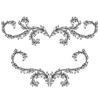 Free vintage floral frame vector - Free vector #256881
