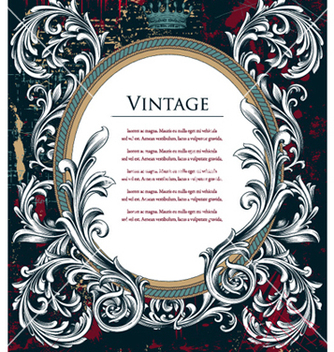 Free vintage frame vector - бесплатный vector #257031