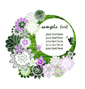 Free watercolor floral frame vector - бесплатный vector #257101
