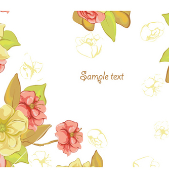 Free spring colorful floral background vector - vector #257121 gratis