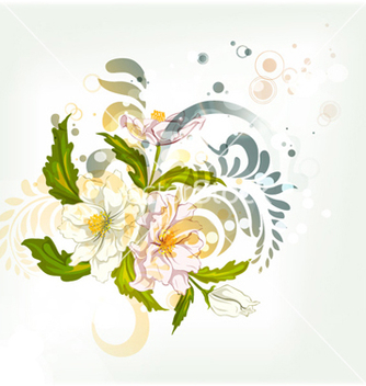 Free abstract colorful floral background vector - Free vector #257171