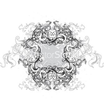 Free vintage floral frame vector - Free vector #257301