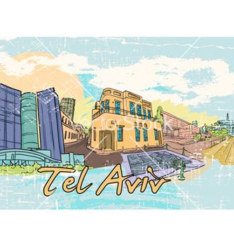 Free tel aviv doodles vector - vector #257391 gratis