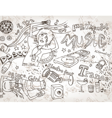 Free funny hand drawn doodles vector - Free vector #257421