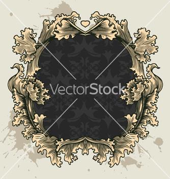Free vintage floral frame vector - Free vector #257561