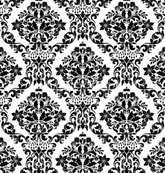 Free damask seamless pattern vector - Kostenloses vector #257661