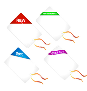 Free discount shopping tags set vector - Free vector #257691