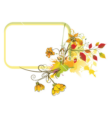 Free colorful floral frame vector - Free vector #257721
