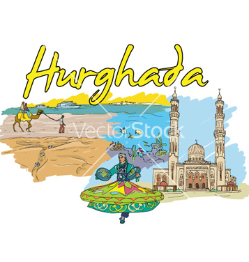 Free hurghada doodles vector - Free vector #257791