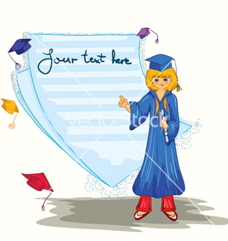 Free graduated girl with blank page vector - Free vector #258341